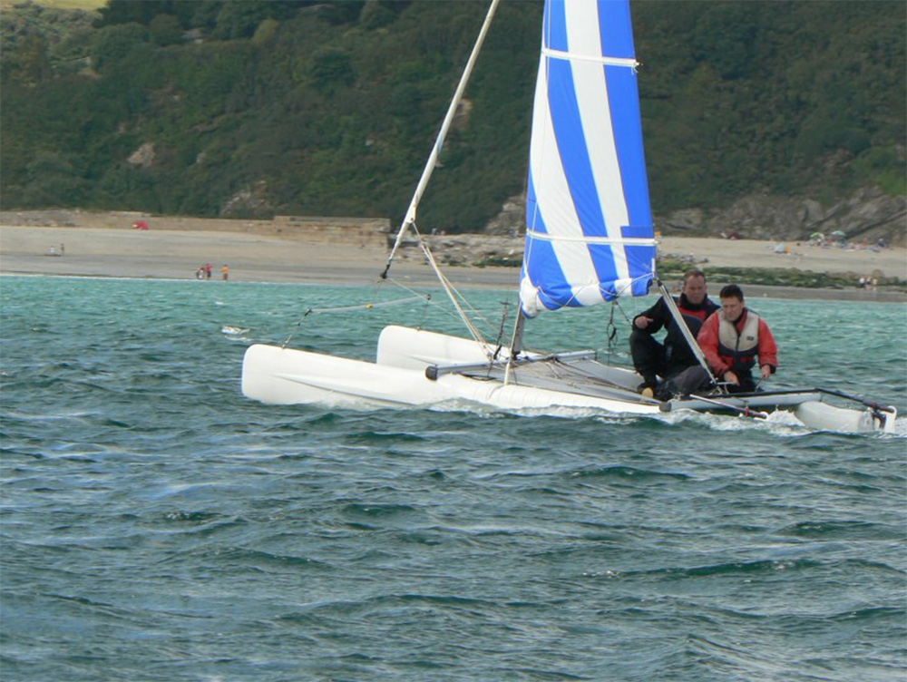 Sailing at Pentewan